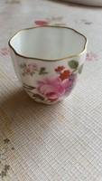 Kis nagyon vékony, gyönyörű csésze virág mintával eladó!