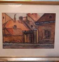 Gaál Sándor: -akvarell festmény Keszthely