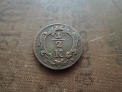 Ausztria 1/2 kreuzer 1760 előtt