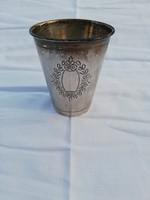 Antik Szecessziós Ezüst keresztelő pohár!Gravírozható!