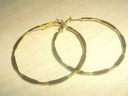 Olasz töltött Arany Gold Filled Karika Fülbevaló 5 cm !!