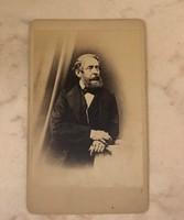 Kossuth 1852-60 között készül vizit kártyája ( Card de visitae), fotó, korabeli, eredeti.