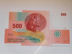 Comore szigetek 500 francs 2012 UNC