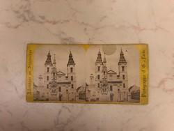 155 éves Budapest sztereó fotó 1864-ből! A Belvárosi Főtemplom és a régi Városháza.