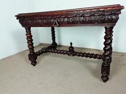 Antik reneszánsz íróasztal