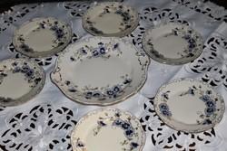 Zsolnay búzavirágos süteményes készlet