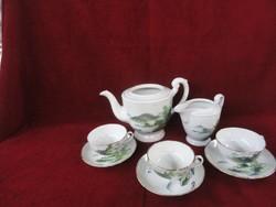 Keleti porcelán teás készlet, három személyes.
