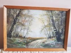 MAyer B. Erdei út festmény, gyönyörű!