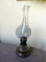 Antik régi petróleum lámpa EREDETI (dekoráció, petróleumlámpa)