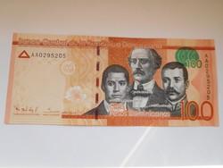 Dominikai Közt 100 pesos 2014 UNC