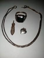 Régi antik ezüst ékszerek