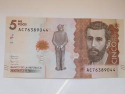 Kolumbia 5000 pesos 2016 UNC