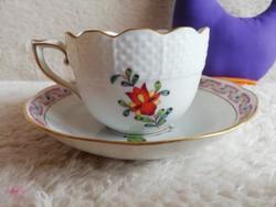 19125F2 Herendi porcelán Apponyi Fleur kávés csésze + alj
