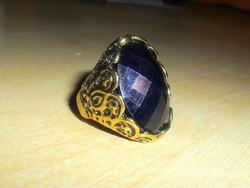 Éjfekete tekintélyes ötvös gyűrű 7-es