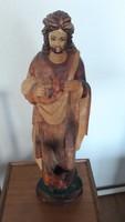 Jézus szobor, fa, színes