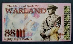 Érdekes III. Birodalom fantázia / propaganda bankjegy laminálva