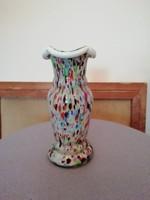 Retro cseh szines üveg váza