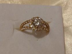 14K tömör arany 2,5 ct gyémánt gyűrű