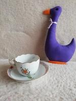 19125F1 Herendi porcelán Apponyi Fleur kávés csésze + alj