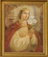 Boros Attila Szent Imre herceg című olajfestménye, EREDET IGAZOLÁS,VISSZAVÁSÁRLÁSI GARANCIÁVAL!