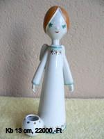 Porcelán aquincumi angyal figura