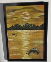 Delfinek játéka - festmény