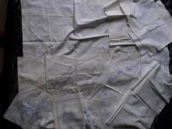 22 DARAB vászon kirajzolt szegetlen hímző minta terítő népi mintás hímzéshez