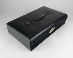 0X811 Régi bőr pipere készlet pipere táska
