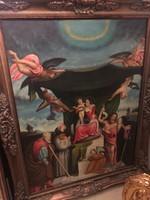 Vallási-egyházi témájú olaj festmény-