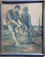 Márkus Imre 35 x 27 cm pasztell, papír