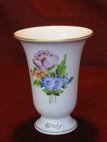 Herendi porcelán váza, vitrin minőség, virágmintás.