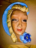 Art deco maszk , Art Deco Ceramic Wall Mask