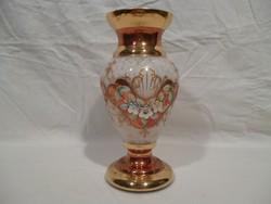 4912 Bohemia közepes méretű üveg váza 21 cm