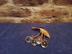Sárgaréz virág kristály bogyókkal