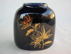 Hollóházi porcelán kék váza