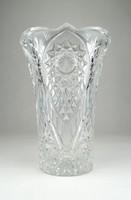 0Y011 Régi csiszolt kristály váza 18 cm