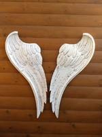 Vintage, Shabby angyalszárny, faragott, dekoráció - 80 cm - 1db! 17.000 Ft