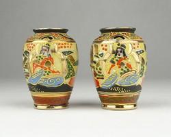 0X968 Satsuma porcelán váza pár 6 cm