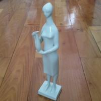 Zsolnay: Vázát tartó nő,ritka, Török János tervezése