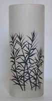Retro festett üveg váza.