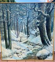 Extrém ritka Neogrády László szignoval hatalmas méretű festmény
