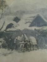 Csergezán Pál : Havas tanya lovaskocsival