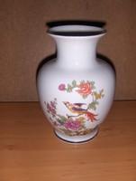 Hollóházi porcelán paradicsommadaras váza 18 cm (1/d)