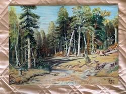 Nyár az Erdőn II. (Siskin festménye nyomán)