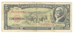 5 peso 1958 Kuba