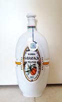 Hollóházi porcelán pálinkás üveg Várdai Ó-barack palack kulacs butykos 25 cm