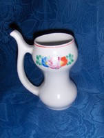 Ritka Hollóházi porcelán kúrapohár 14 cm magas (14/d)