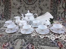 Gyönyörű német porcelán kávés vagy teáskészlet - ital szervírozó szett