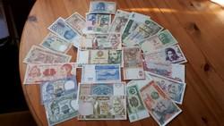 25 db-os vegyes külföldi bankjegy tétel- mind UNC !