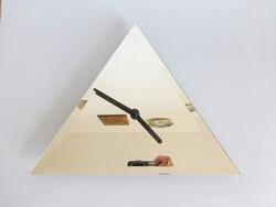Extrém ritka art deco francia háromszög alakú tükör óra,designe óra